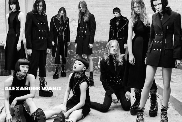 Alexander Wang unveils black and white campaign shot by Steven Klein