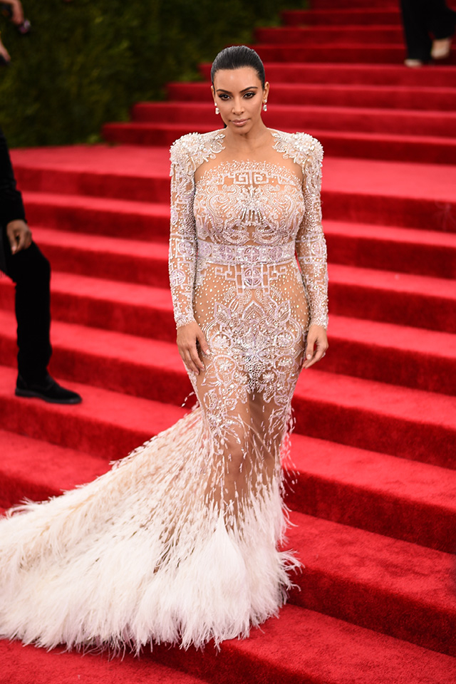 Kim Kardashian and Beyoncé's barely-there gowns upset Carolina Herrera