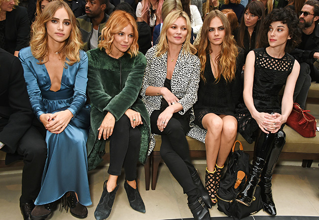 London Fashion Week: The guests at the Burberry show