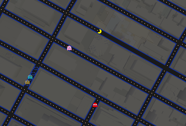 Google Maps has been transformed into a giant Pac-Man creation