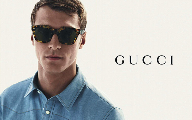 Clément Chabernaud stars in Gucci's new men's eyewear campaign