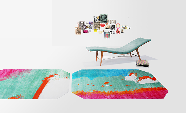 Henzel Studio presents Warhol-inspired rugs and pillows