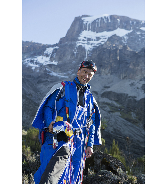 Valery Rozov makes a historic BASE jump from Mount Kilimanjaro