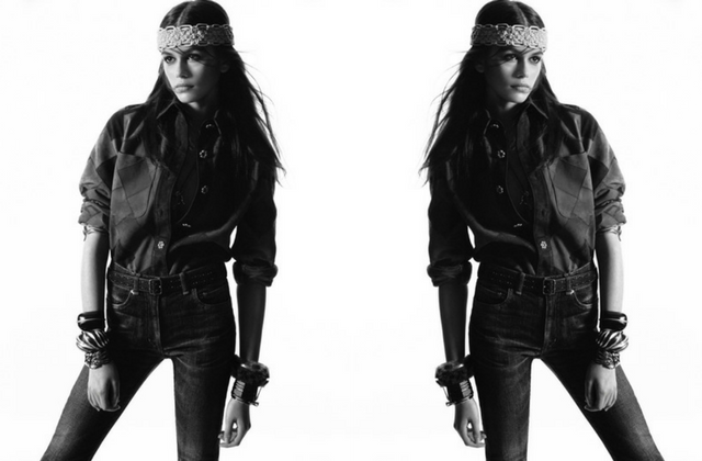 Kaia Gerber is the new face of Saint Laurent