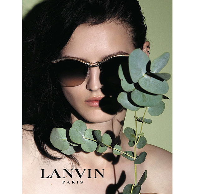 Katlin Aas stars in the new Lanvin Eyewear 2015 ad campaign