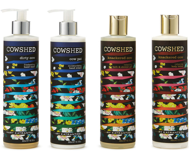 Mary Katranzou x Cowshed: Limited-edition natural skincare collection