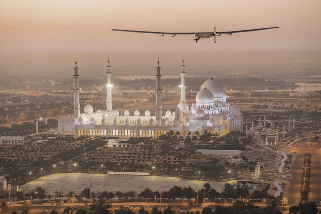 The final test flight for Solar Impulse 2 is dedicated to Abu Dhabi Crown Prince Sheikh Mohammed
