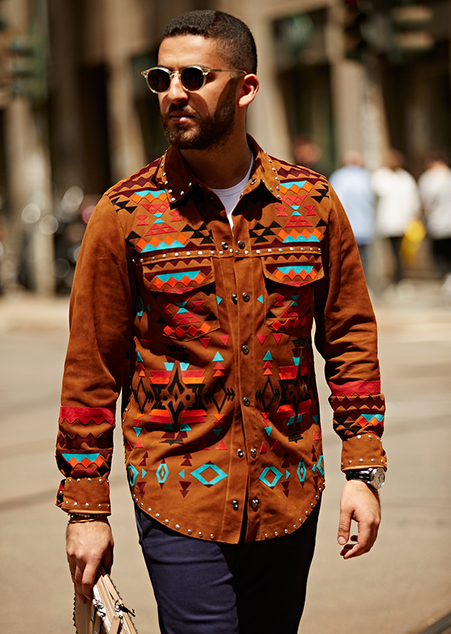 Men's RTW Milan Fashion Week: Street style part 1