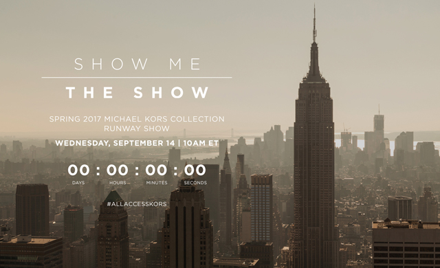 Watch live: Michael Kors Collection Spring/Summer '17 New York Fashion Week