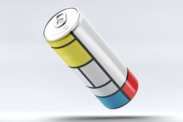 Soda pop: The Mondrian Pepsi can by Andrea Salamino