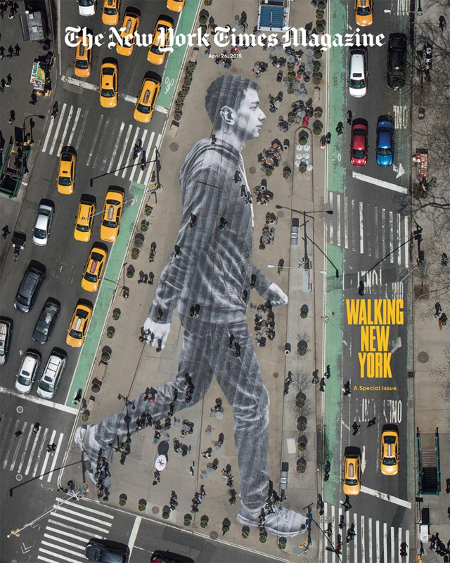 Take a look at the incredible and poignant new JR street art in New York City