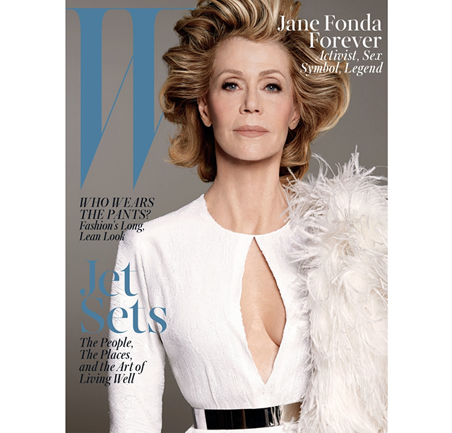 Jane Fonda is a vision in white on the cover of W Magazine