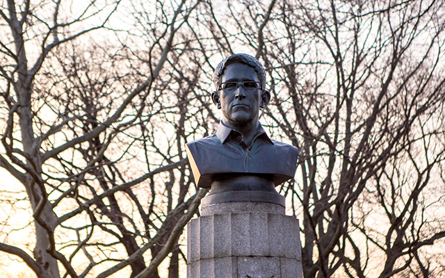 Edward Snowden monument removed from Brooklyn Park