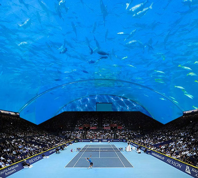 Could Dubai be set to have the worlds first underwater tennis stadium?