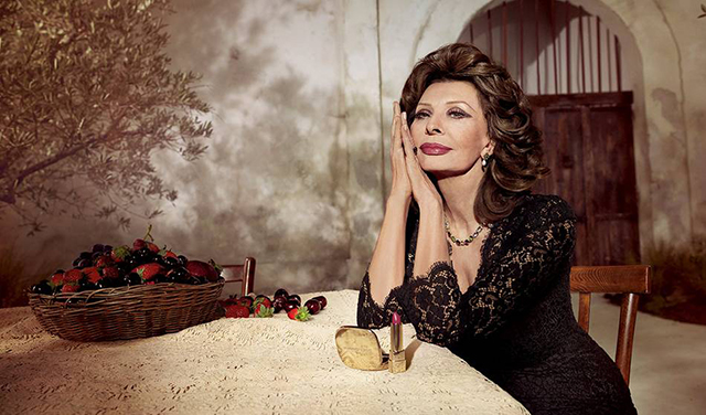 Iconic: Dolce & Gabbana debut new lipstick campaign starring Sophia Loren
