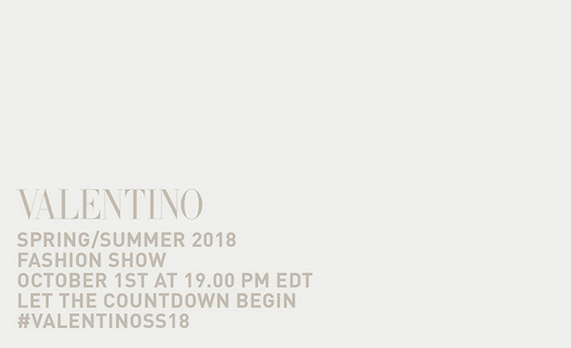 Live: Valentino SS18 Paris Fashion Week