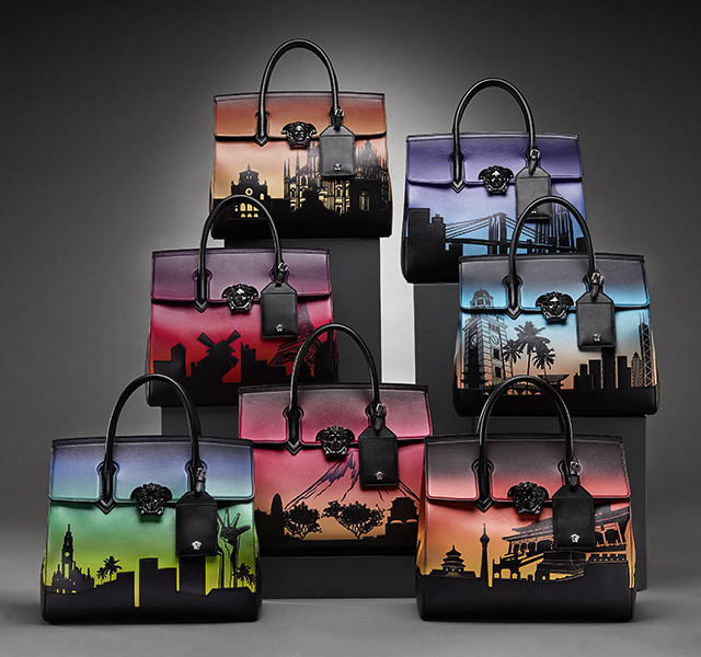 Discover Versace's seven bags for seven cities