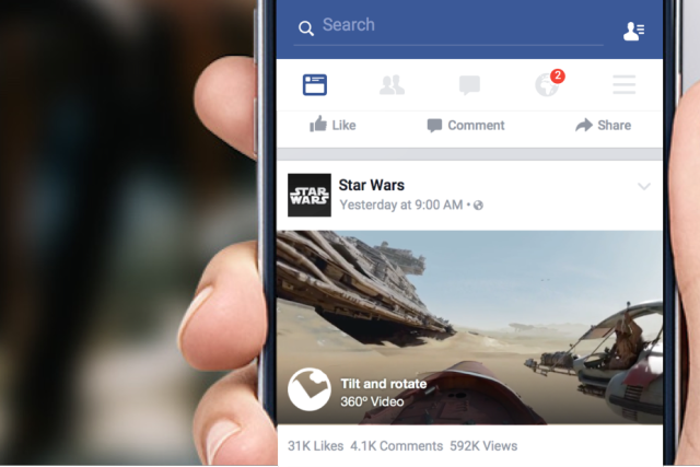 Facebook launches 360-degree video for newsfeed