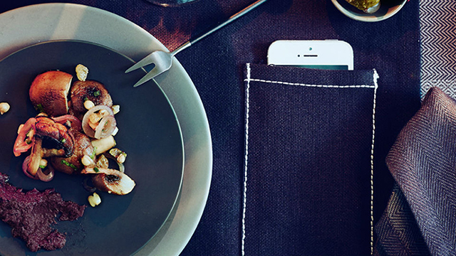 Ikea introduces placemats with a smartphone pouch