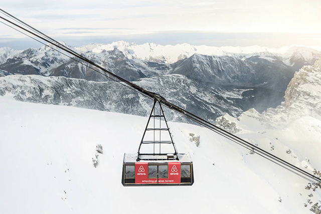 Airbnb offer a nights stay in a cable car 9,000ft above the French Alps