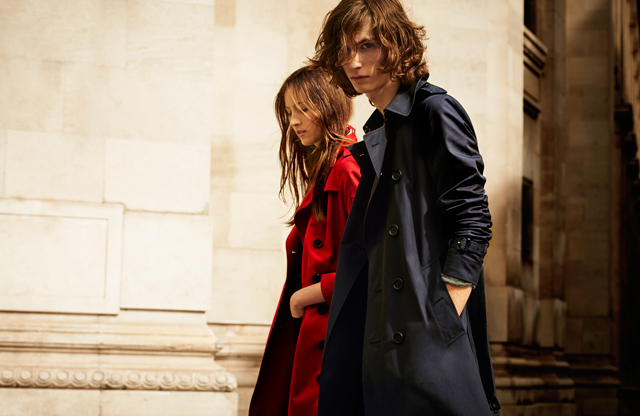 Burberry introduces the monogrammed trench coat