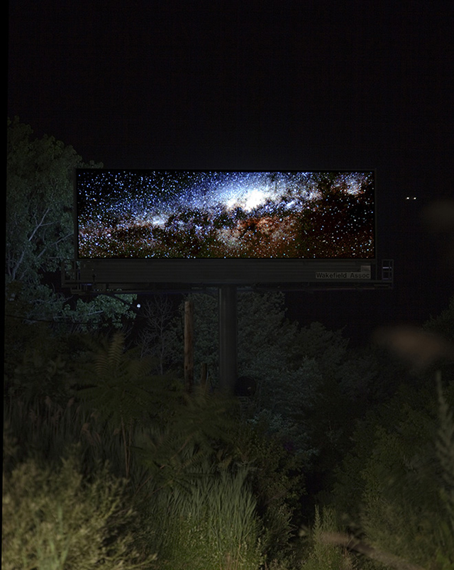 Artist Brian Kane makes two billboards seem invisible