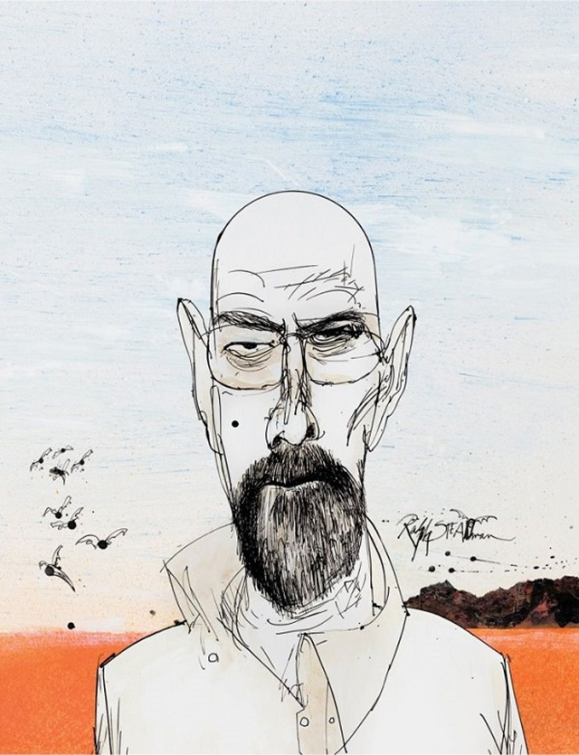 Artist Ralph Steadman stages exhibition of 'Breaking Bad' illustrations