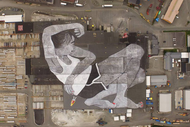 First look: The world's largest mural by French artists Ella & Pitr