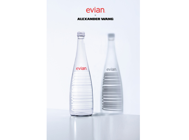 Alexander Wang has designed a water bottle for Evian