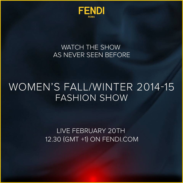 Fendi ties up with Google to livestream its AW14 show