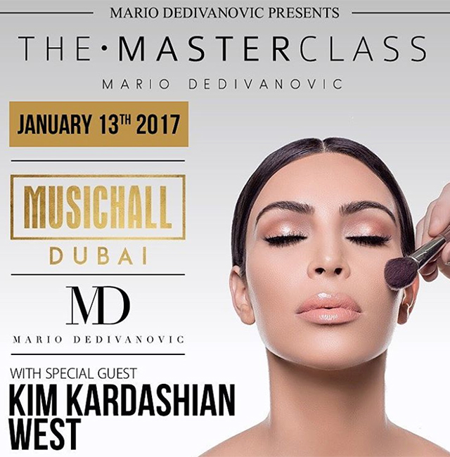Mario Dedivanovic confirms makeup masterclass in the Middle East