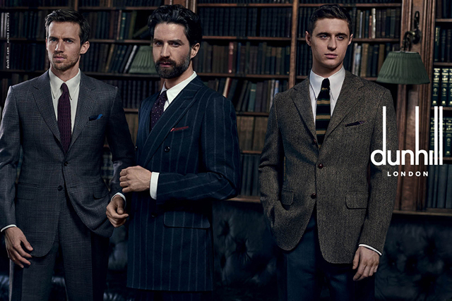 Peter Lindbergh shoots the new Dunhill campaign for AW15