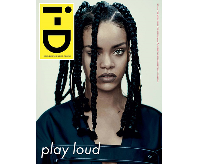 Rihanna channels the 90s for i-D Magazine cover