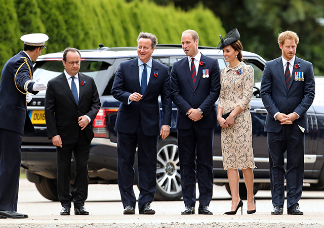 The British Royals commemorate Battle of Somme