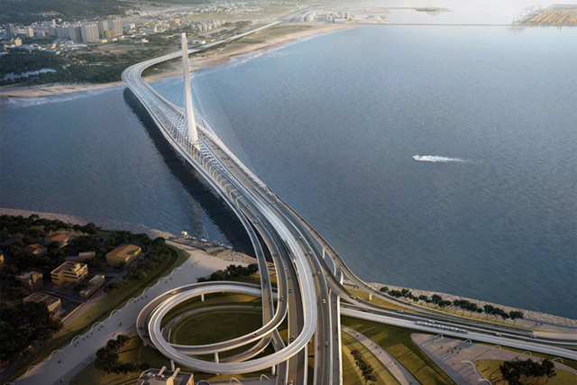 Zaha Hadid will create the Danjiang Bridge in Taiwan