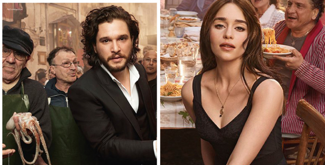 First look: Kit Harington and Emilia Clarke for Dolce & Gabbana