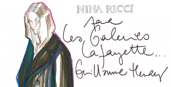 Galeries Lafayette is auctioning off fashion designers' sketches