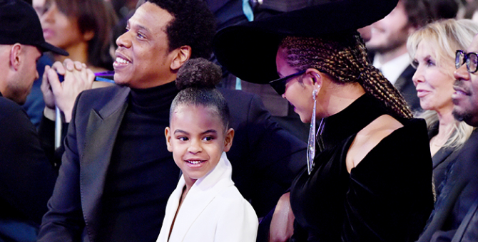 Blue Ivy bids Dhs70,000 on a painting at the 2nd Wearable Art Gala