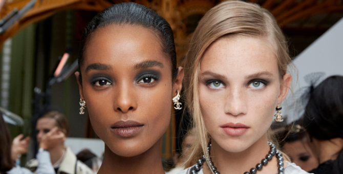 Chanel's latest beauty look proves the return of a black smoky eye