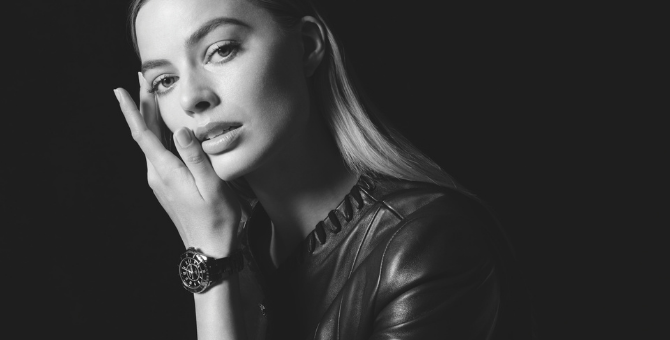 Margot Robbie is the new face of Chanel's J12 watch campaign