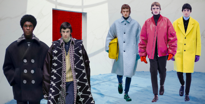 Raf Simons makes his menswear debut at Prada with Fall/Winter '21 collection