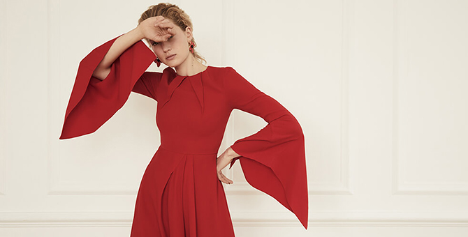 Roland Mouret adds a touch of modesty to his Signature Collection for The Modist