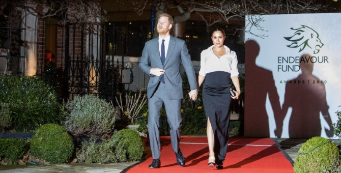 The Duke and Duchess of Sussex shared a previously unseen photo on Instagram overnight