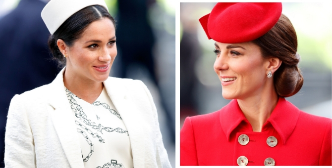 Can we talk about Kate Middleton and Meghan Markle's sophisticated sartorial choices right now?