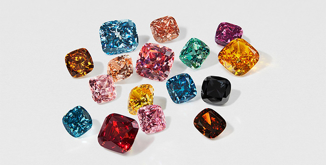 Swarovski unveil lab-grown coloured diamonds
