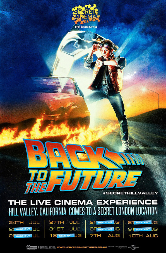 Secret Cinema goes back to the future