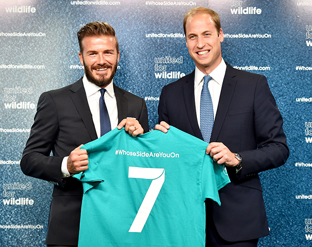 Prince William and David Beckham join forces for wildlife campaign