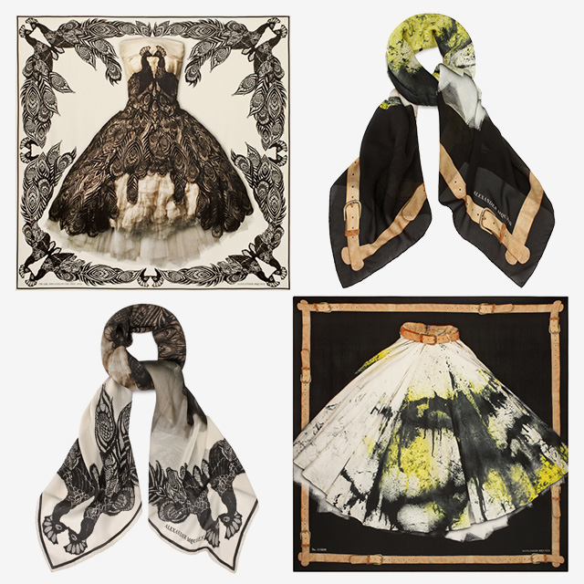 Alexander McQueen unveil scarf collection for Savage Beauty