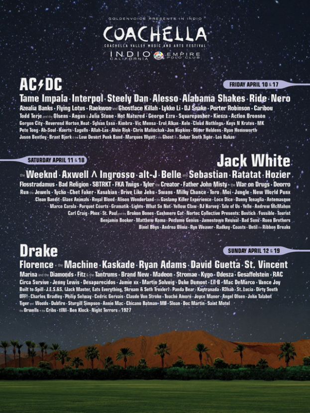 The Coachella 2015 lineup is announced