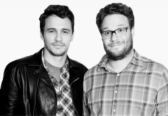 Kanye West asks James Franco and Seth Rogan to perform at his wedding